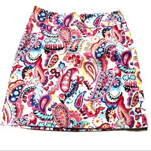 Talbots Floral and Paisley mini skirt size 2